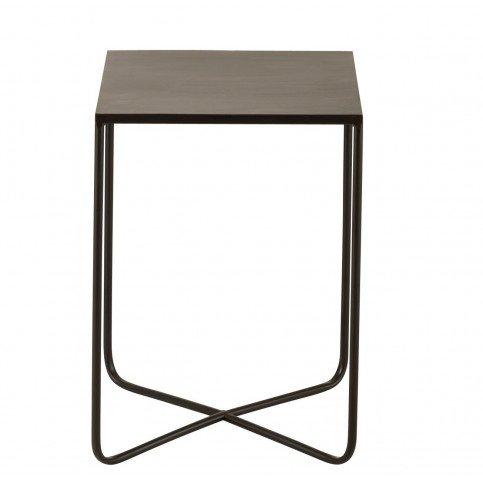 Table Gigogne Pied Croix Métal Noir