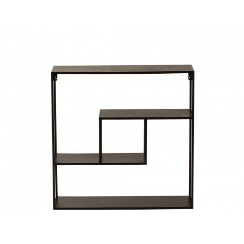 Console Rectangulaire 4 Niveaux Métal Noir