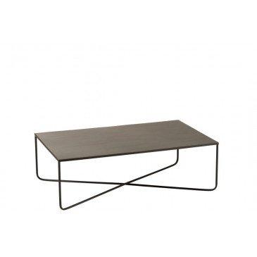 Table Salon Pied Croix Métal Noir