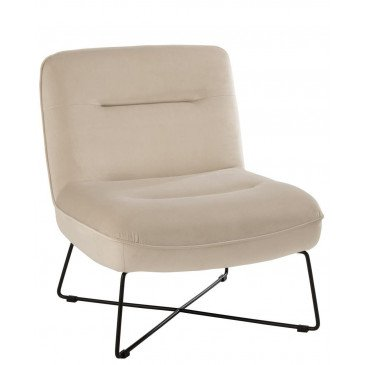 Chaise Lounge Support Textile/Métal Blanc