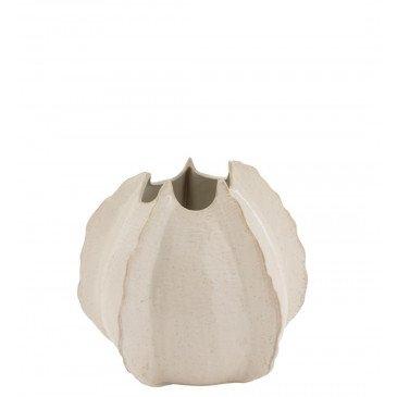 Vase Bords Bas Ceramique Blanc Medium