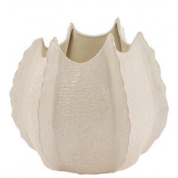 Vase Bords Bas Ceramique Blanc Large