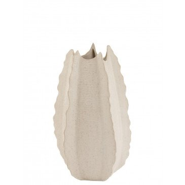 Vase Bords Haut Ceramique Blanc Small