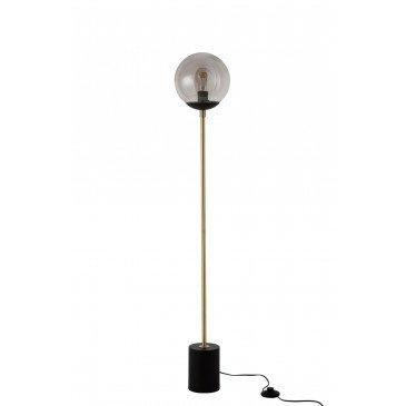 Lampe Boule Métal/Verre Noir/Or
