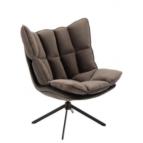 Chaise Relax Coussin Sur Pied Textile/Métal Gris