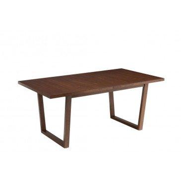 Table  A Rallonge Ken Bois Hevea Brun