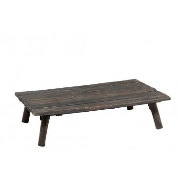 Table Salon Rectangulaire Bois Chene Chinois Brun Fonce