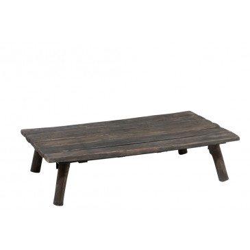 Table Salon Rectangulaire Bois Chene Chinois Brun Fonce