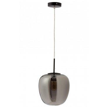 Lampe Suspendu Jumbo Verre/Métal Argent