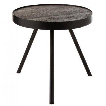 Table Gigogne Fien Haut Bois Manguier Fer Brun Fonce Noir