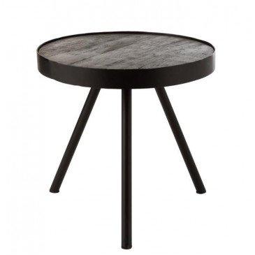 Table Gigogne Fien Bois Manguier Fer Brun Fonce Noir