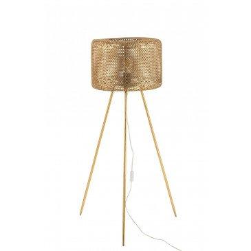 Lampe Trepied Haute Métal Or Large