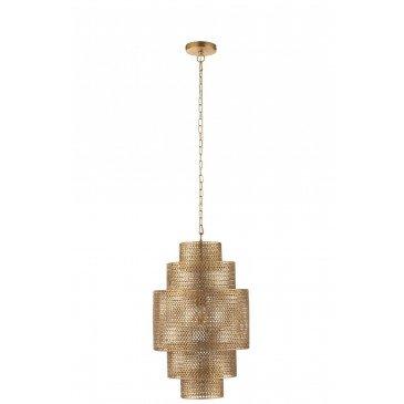 Lampe Suspendue Etages Métal Or Small