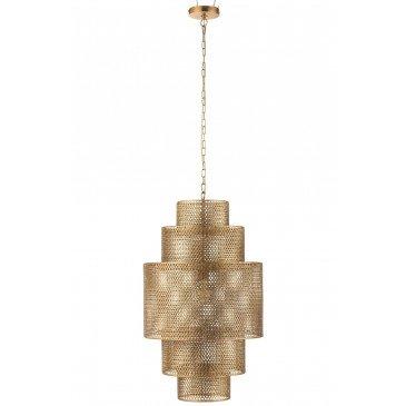 Lampe Suspendue Etages Métal Or Large