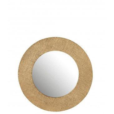 Miroir Effet Jute Aluminium Or Small