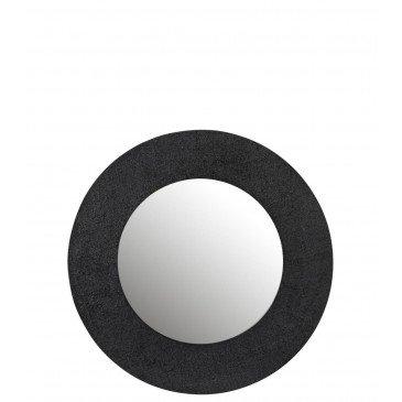 Miroir Effet Jute Aluminium Noir Small
