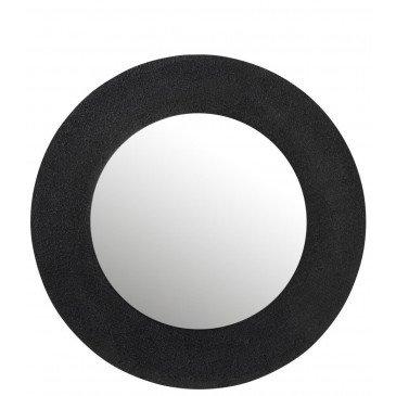 Miroir Effet Jute Aluminium Noir Large