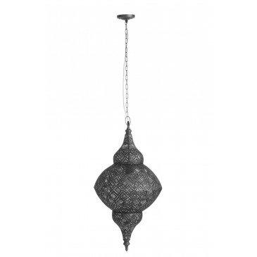 Lampe Suspendue Oriental Métal Noir Large
