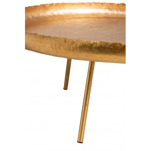 Table Salon Ronde Métal Or