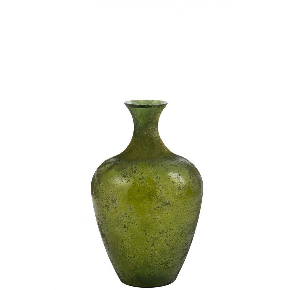Vase Poire Verre Vert