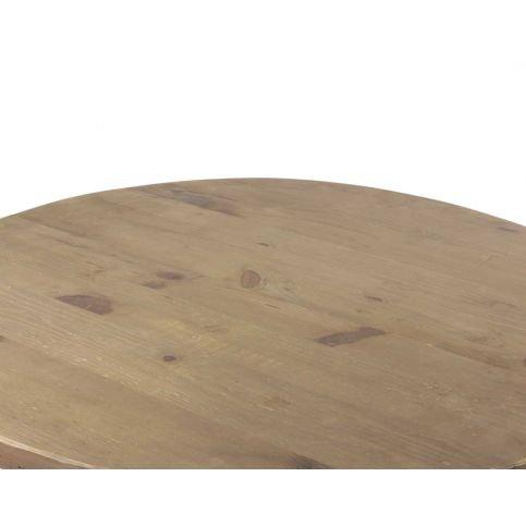 Table Ronde Rustique Bois Massif Lisa