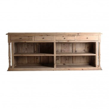 Comptoir Bois Recyclé Style Contemporain Naturel Chester