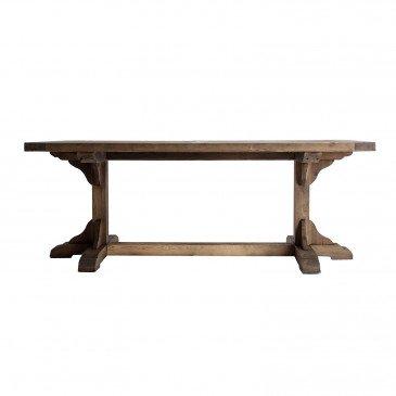 Table Rectangle Bois Recyclé Style Classique Naturel Gerald