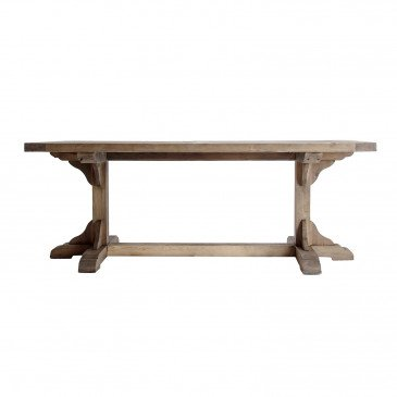 Table Rectangle Bois Recyclé Style Classique Naturel Gerald