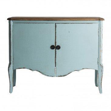 Console Bois Style Oriental Bleu Clair Salem