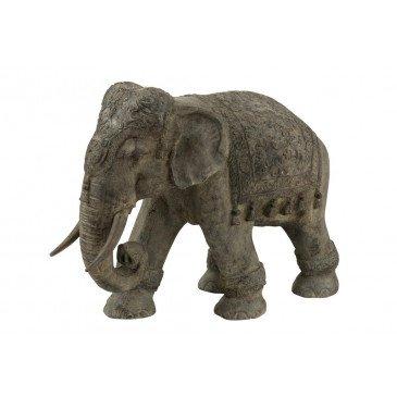 Éléphant Indien Magnésie Gris Large