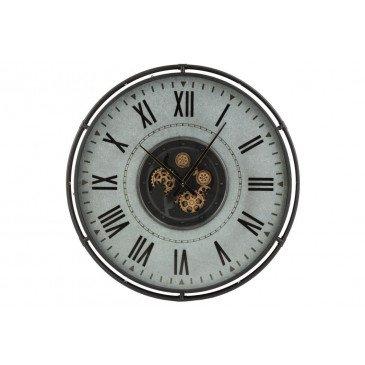 Horloge Bords Métalliques Chiffres Romains Métal Large