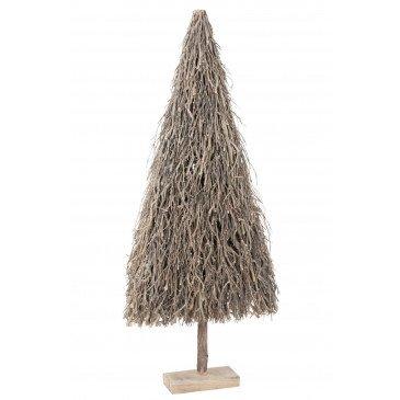 Sapin de Noël Plat Branches Bois Gris Large