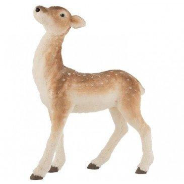 Bambi Debout Imitation Fourrure Marron Clair Large