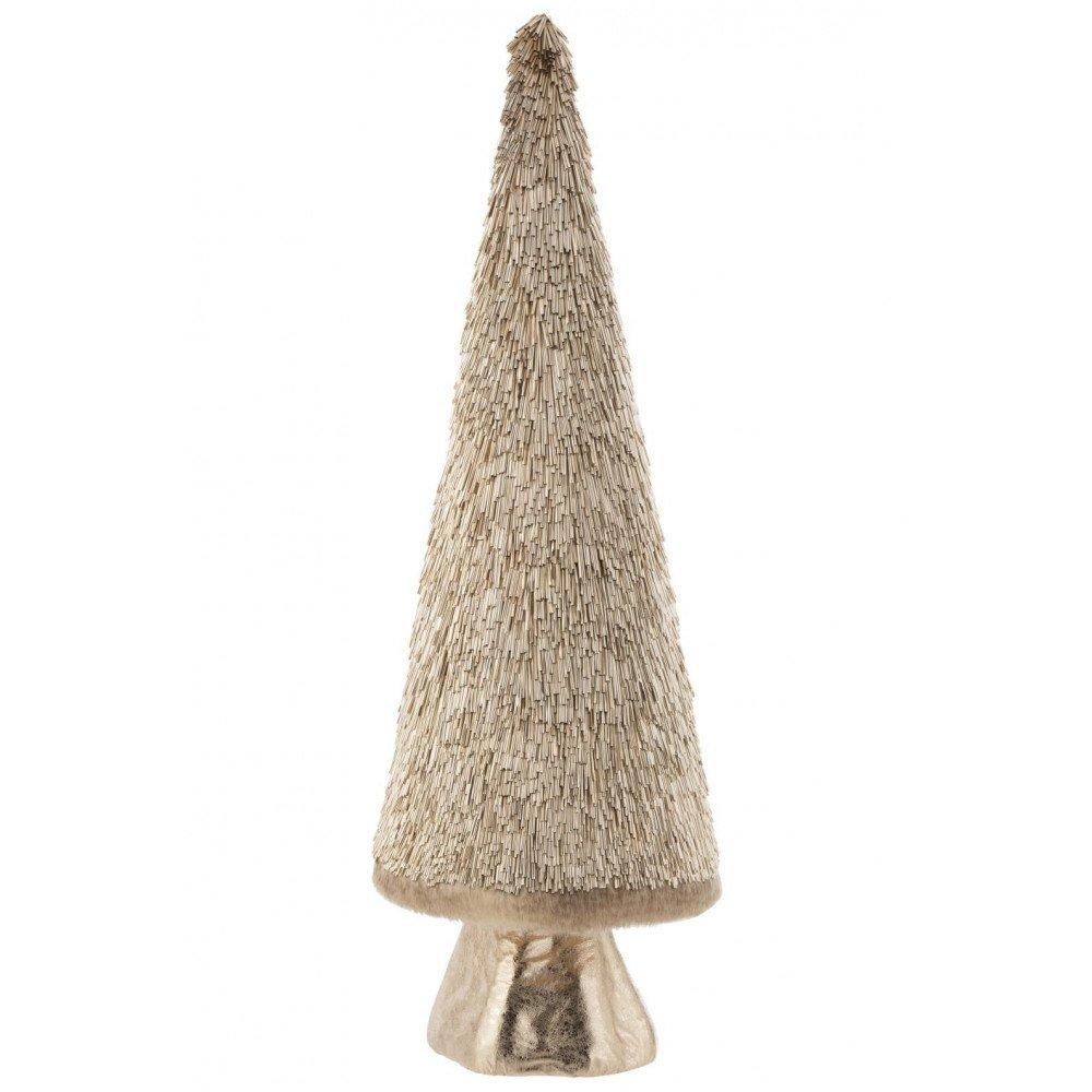 Sapin de Noël Décoratif Plastique Or Large