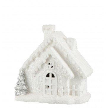 Décoration de Noël Maison Hiver Led Magnésie Blanc Small