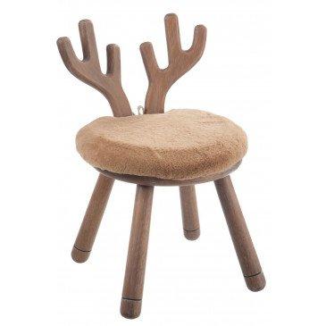 Chaise Oreilles de Cerf Bois Naturel
