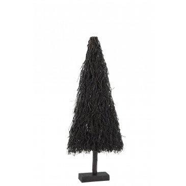 Sapin de Noël Plat Branches Bois Noir Medium