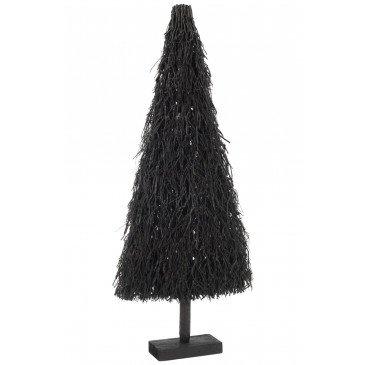Sapin de Noël Plat Branches Bois Noir Large