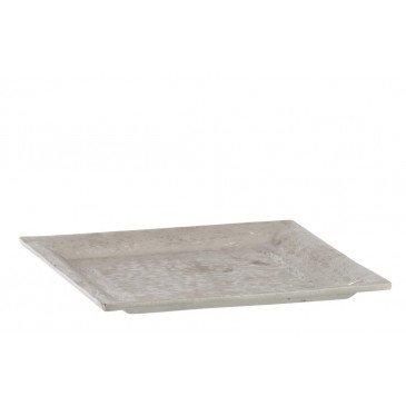 Plat Carre Aluminium Brosse Argent
