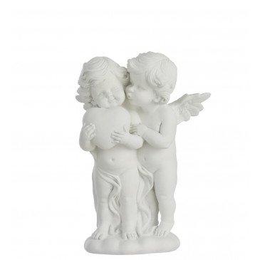 Figurine Anges Câlin Résine Blanc Large