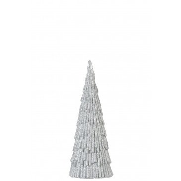 Arbre Décoratif Noël Magnésie Argent Medium