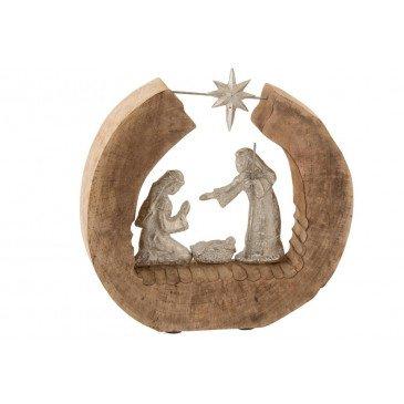Personnages de Crèche de Noël Bois et Aluminium