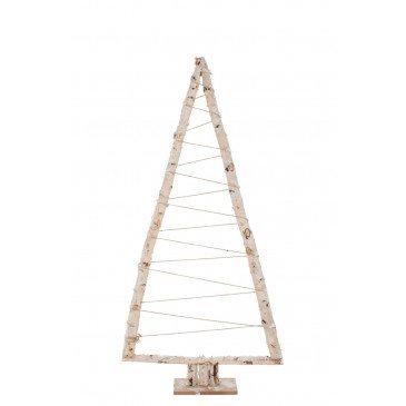 Sapin de Noël Triangle Branches Bois Blanc Xl