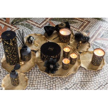 Boîte de 6 Boules de Noël Sac A Main Verre Or et Noir Small