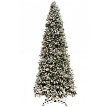 Sapin de Noël Plastique Enneigé Vert Xl