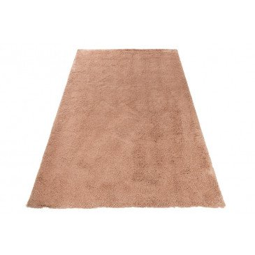 Tapis Uni Long Polyester Rose